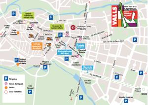 Plànol dels escenaris de la Festa de la Calçotada que es celebrarà a Valls el proper 31 de Gener