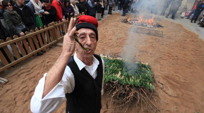 El darrer cap de setmana de gener viu a Valls la festa de la calçotada